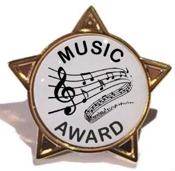 MUSIC AWARD star badge